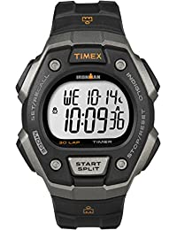Timex T5K821GP Ironman 30 Lap Grey and Black with Black Resin Strap Watch