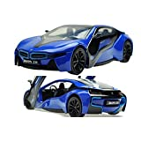Brand New 1:32 BMW i8 Diecast Car Model Collection Sound&light Colour Blue (Colors May Vary) by Jinmen