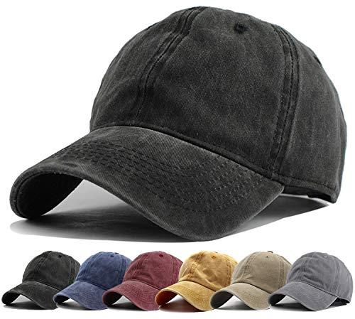 HH HOFNEN Men Women Washed Distressed Twill Baseball Cap Vintage Adjustable Dad Hat