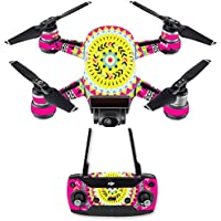 Skin for DJI Spark Mini Drone Combo - Pink Aztec| MightySkins Protective, Durable, and Unique Vinyl Decal wrap cover | Easy To Apply, Remove, and Change Styles | Made in the USA