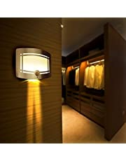Motion Sensor Closet Light, OxyLED Wall Lights Battery Operated, Luxury Aluminum Stick-on Anywhere Wall Lamp Sconces, Motion Sensor Indoor Security Light for Stair, Kitchen, Bathroom, Hallway, 1 Pack
