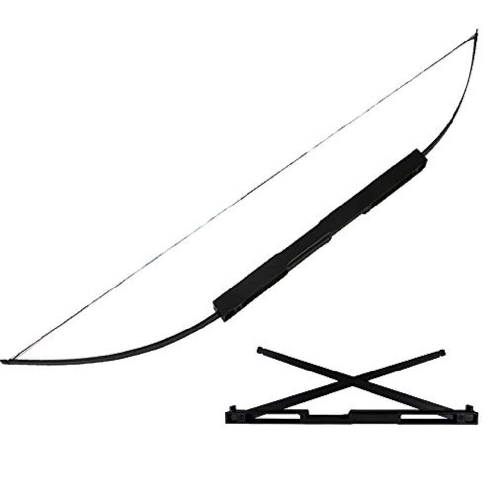 アーチェリー弓 60ポンドポータブル折りたたみアーチェリーストレートボウアルミテイクダウン弓ロングボウユースターゲット狩猟射撃練習