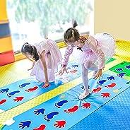 ROLENUNE Kid Hopscotch Play Mat Carpet Baby Sport Jumping Rug Lattice Kindergarten Team Game Pad Playroom Early Childhood Fu