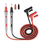 Multimeter Test Leads with 4mm Banana Plug Digital Multi Meter Clamp Tester Probe for Multimeters Electronic Test Leads Pen Accessories (Silicone Wire 20A Standard Model)