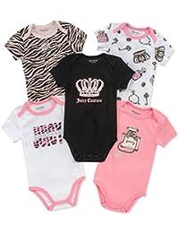 Baby Girls 5 Packs Bodysuit