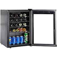 SMETA 19 Bottles Small Wine Cellar Refridgerator with LED Display Counter Top Beverage Beer cooler fridge
