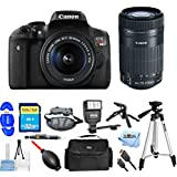 Canon EOS Rebel T6i DSLR Camera with EF-S 18-55mm f/3.5-5.6 IS STM Lens REFURBISHED 0591C003 [International Version] (Pro Bundle, 18-55mm + 55-250mm)