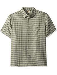 Men's Short Sleeve Microfiber Woven Shirt
