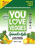 You Love Fruit Organic Fruit/Veggie Leather, Kale & Spinach, 1 Ounce