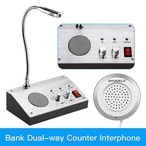 Intercom Dual-Way Through Store Window Glass Counter Interphone Speaker System