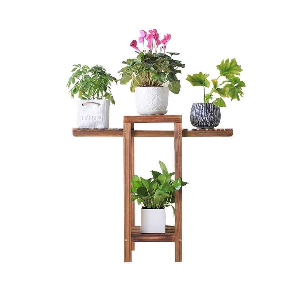 GYAO-Scaffali porta piante Piccola Cornice per Fiori Piccola vetrina per Il Desktop Piccola vetrina in Legno Cornice Multistrato Davanzale Marronee Dimensioni  78,5x82 cm