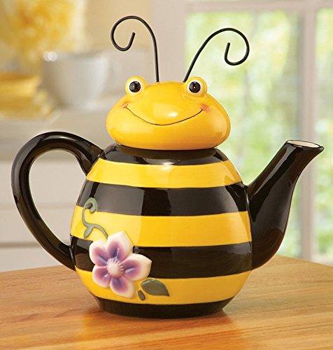 Bee Shaped Ceramic Kitchen Teapot, Yellow