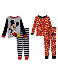 Mickey Mouse Boys 4 Piece Pajamas Set (Toddler)