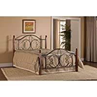 Hillsdale Milwaukee Queen Poster Bed in Textured Black