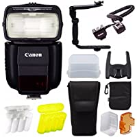 Canon Speedlite 430EX III-RT On Camera Flash w/Bounce Hard Dome Diffuser Bundle