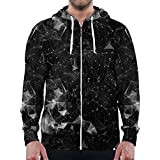 INTO THE AM Spectrum Long Sleeve Zip Up Hoodie Sweatshirt (3X-Large)