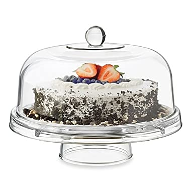 Dailyware™ Glass 6-in-1 Footed Multifunctional Cake Dome