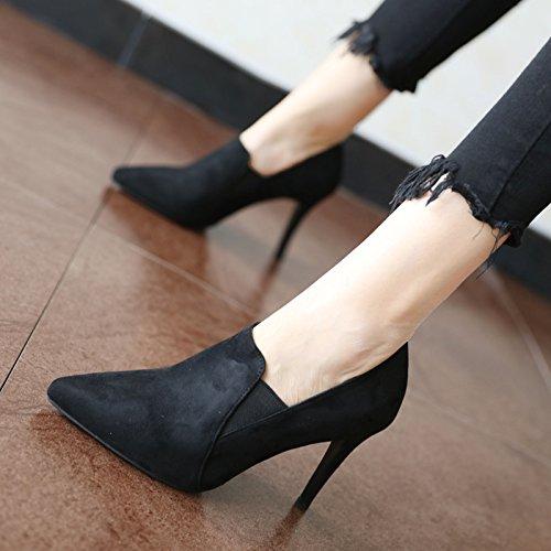 AGECC Damen Stiefel Bequeme Schöne Durable Suede Schuhe Füße Tiefe Mündung Stilettos All-Match Minimalistische Schuhe B07HVG83RD Tanzschuhe Ausgezeichnete Leistung