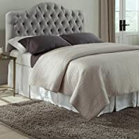 Fashion Bed Martinique Wood Upholstered Headboard in Gray - King