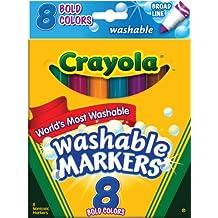 Crayola Broad Line Washable Markers-Bold Colors 8/Pkg