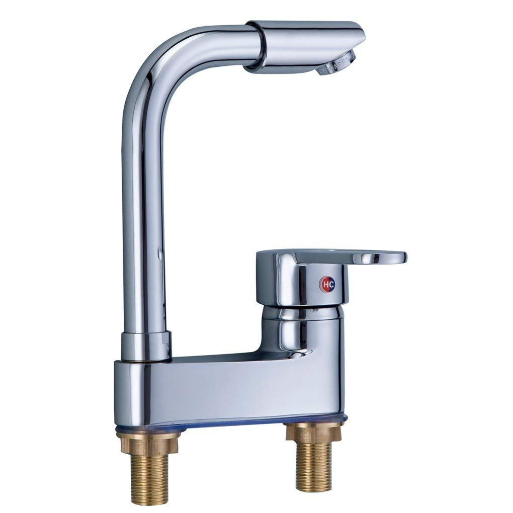 JU Bad volles Kupfer 360 kann Becken Waschbecken Becken Becken heißen und kalten Wasserhahn Waschbecken gedreht Werden