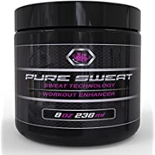 Pure Sweat All Natural Stomach Fat Burner Body Slimming Cream With Coconut Oil - Great for Weight Loss and Stretch Marks. Sweat Workout Enhancer