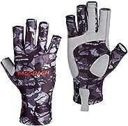 Bassdash ALTIMATE Sun Protection Fingerless Fishing Gloves UPF 50+ Men's Women's UV Gloves for Kayaking Paddli
