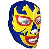 DOS CARAS Youth Lucha Libre Wrestling Mask - KIDS Costume Wear - BLUE/Yellow