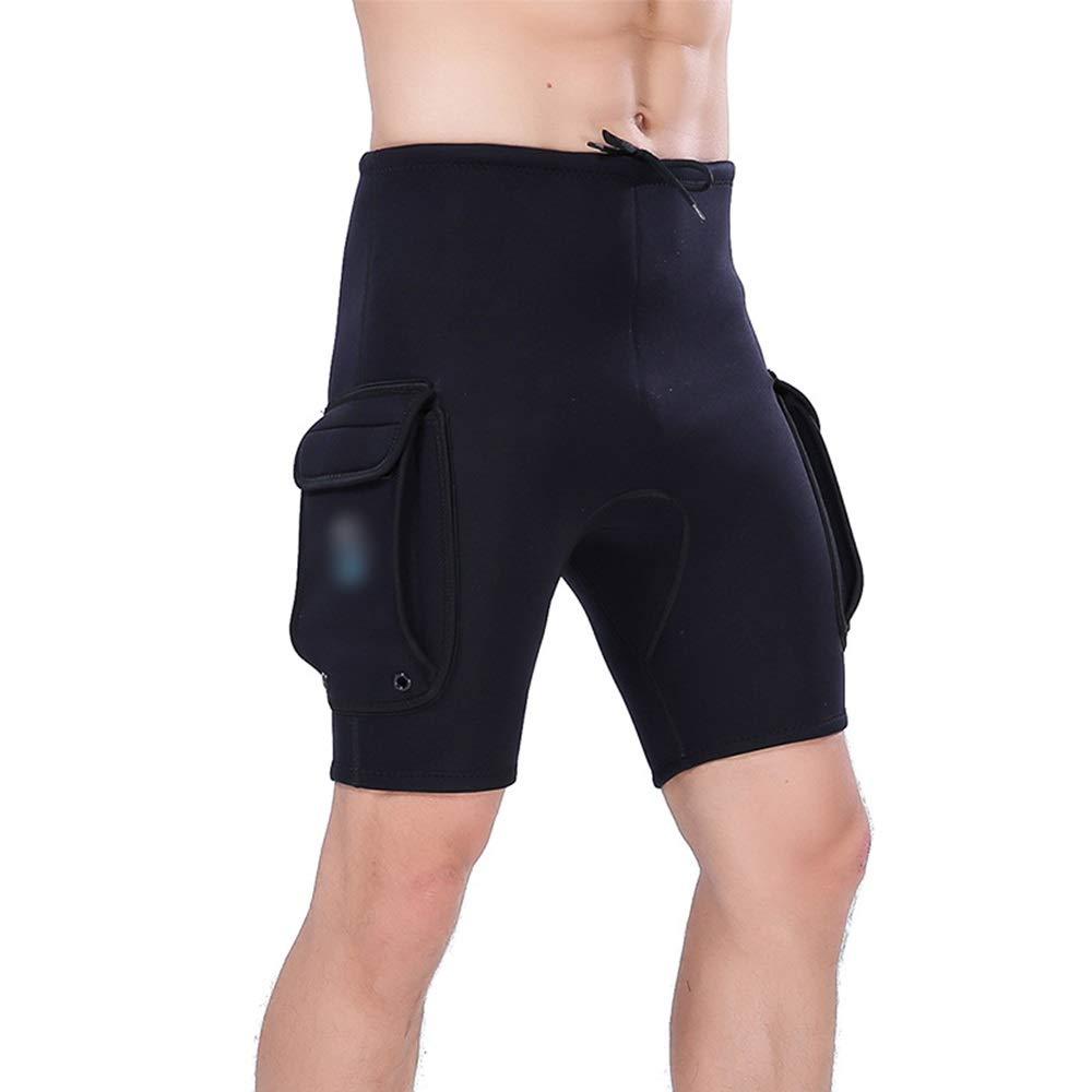 Noir X-grand KERVINFENDRIYUN courtes De Plongée courtes De Plongée courtes De Plongée courtes Dérivants Pantalons De Rames Pantalons De Plongée 3mm (Couleur   Noir, Taille   XL)