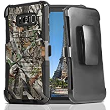 Samsung Galaxy S8+ Plus Case - [Real Tree Hunter Camo] Rugged Dual Layer Armor Cover with Built-In Kickstand & Detachable Swivel Belt Clip Holster, Atom LED for Samsung Galaxy S8 + Plus