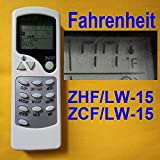 YING RAY Replacement for Chigo Quietside Air-con Air Conditioner Remote Control Model Number: ZHF/LW-15 ZCF/LW-15 (Display in Fahrenheit!!!! Fahrenheit!!!! Fahrenheit!!!! Fahrenheit!!!!)