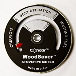Optimiser Wood stove Dual Zone Thermometer by Condar 3-45