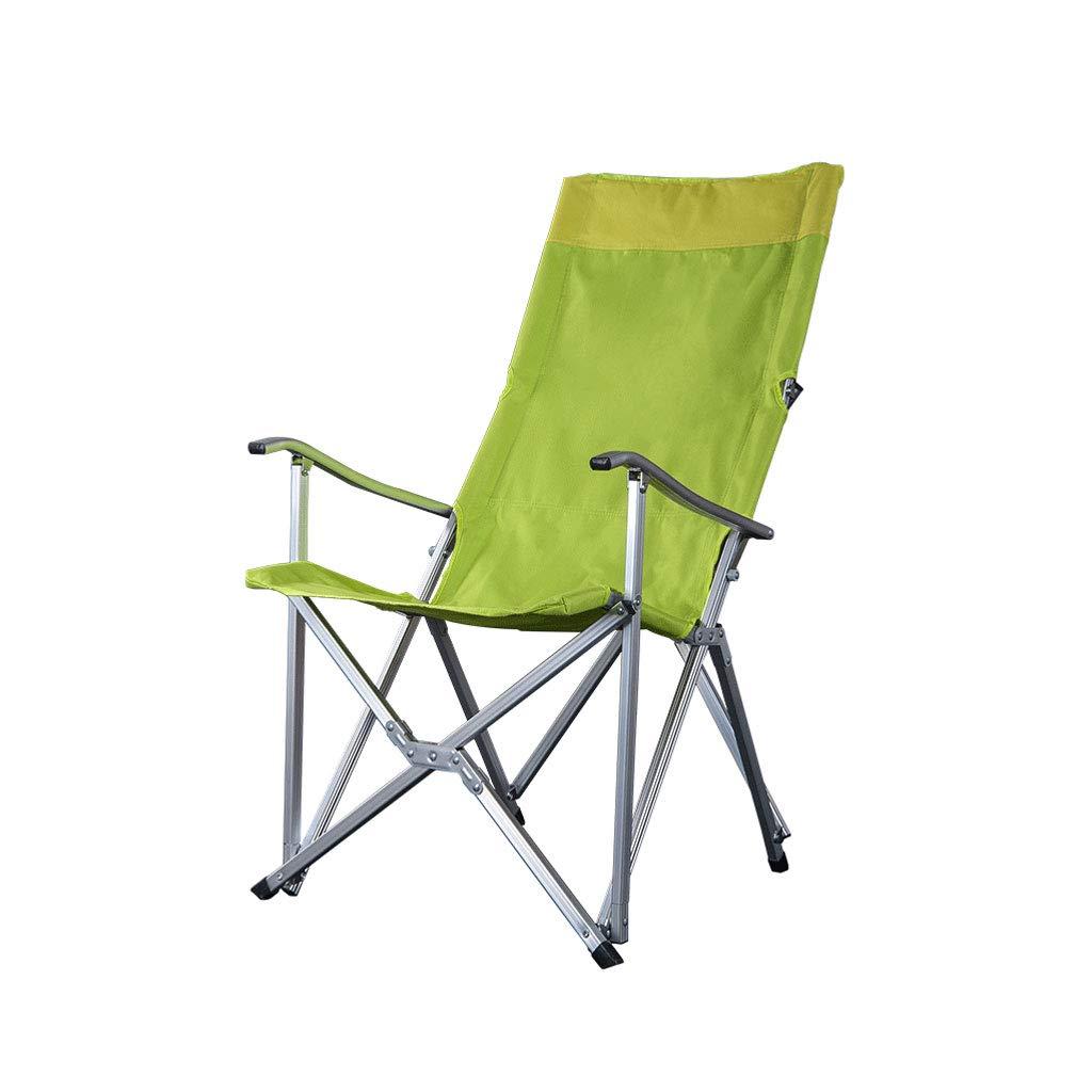 Kaiyu Klappstuhl im Freien Portable Recliner Stuhl Angeln Stuhl Strandkorb Camping Barbecue Stuhl 55x72x100cm