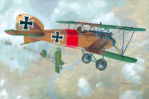 Roden Albatros D. III German Pursuit sesquiplane Airplane Model Kit by Roden