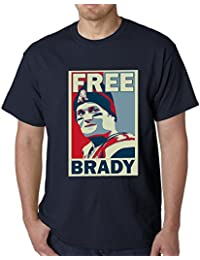 Free Brady Football MENS T-SHIRT, Navy Blue, Large