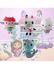 Gabby's Dollhouse, Pandy Cat Stuffed Animal, Mercat Jumbo Plush and Baby Box Cat Gabbys Dollhouse Soft Cartoon Animal for Fans Gifts Collection