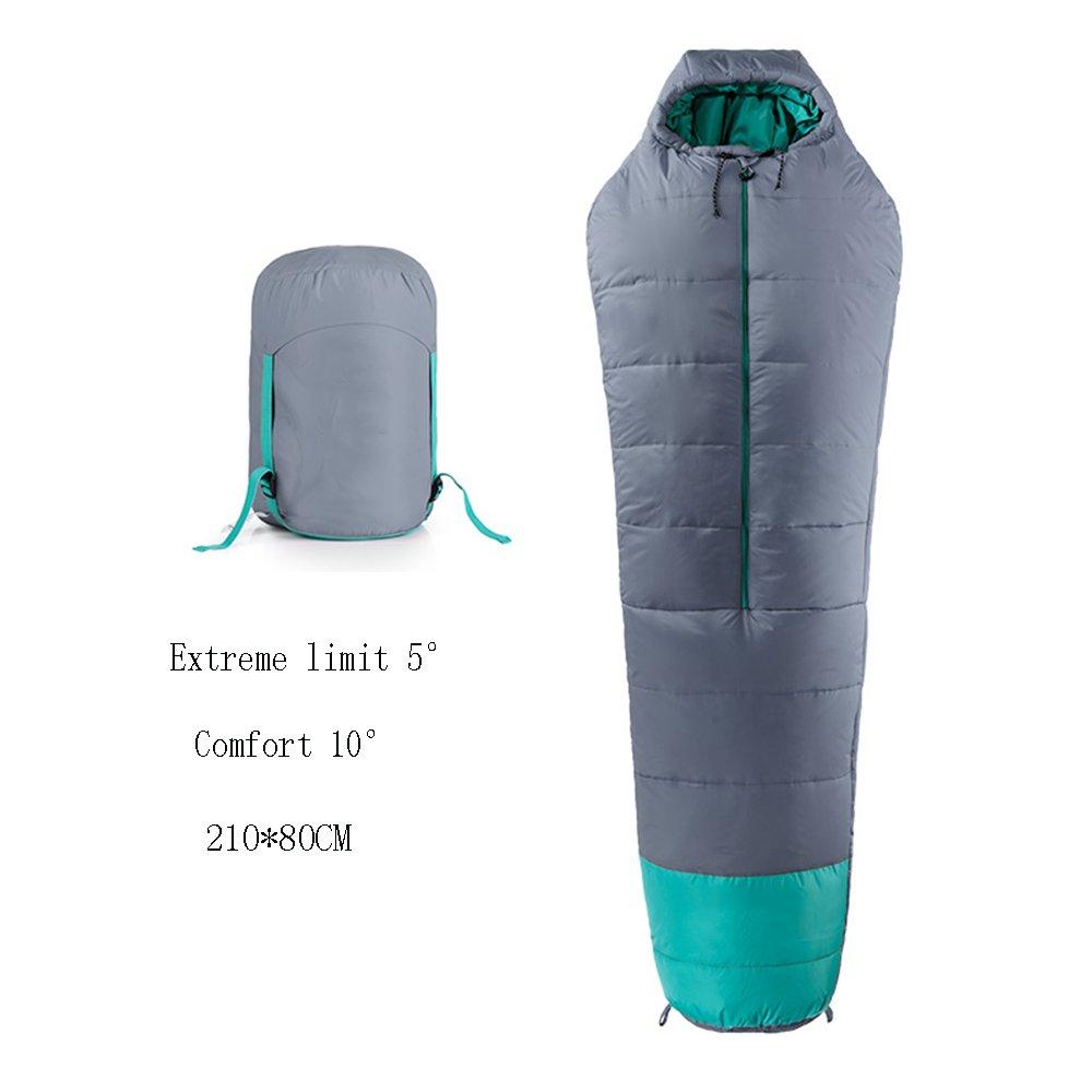QFFL shuidai Schlafsack Adult Outdoor Camping Anti-Kälte-Schlafsack Leichte warme Mumie Cotton Schlafsack Portable Wasserdichte Schlafsack
