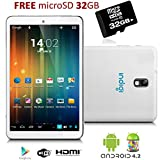 """Indigi® 7"""" Tablet PC Android 4.2 Jelly Bean Leather Back HDMI Camera w/ Flash FREE 32GB"""