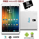 Indigi® 7 Tablet PC Android 4.2 Jelly Bean Leather Back HDMI Camera w/ Flash FREE 32GB