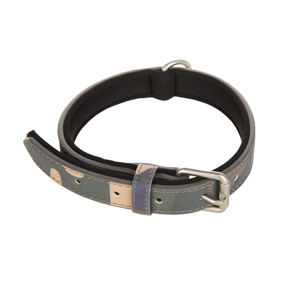 GREEN S GREEN S Soft Touch Collars Luxury Dog Collar for Small Medium Large Dog (color   Green, Size   S)