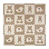 Tadpoles Playmat Set 16-Piece Teddy and Friends, Brown