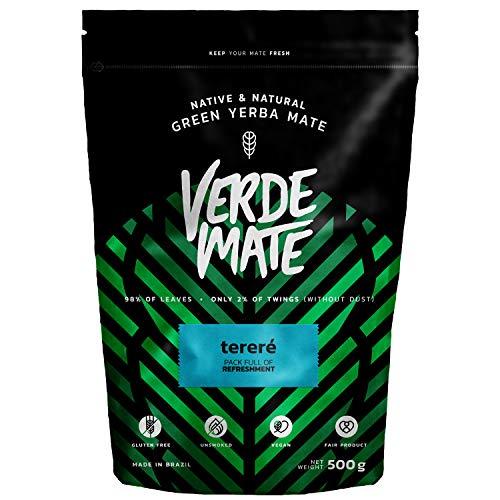 Verde Mate Green Terere 500g, Yerba Mate Te Terere, Yerba Mate de Brasil, Yerba Mate Refrescante, Sin Gluten, Secada sin Humo