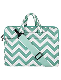 Mosiso Chevron Style Fabric Laptop Sleeve Case Cover Bag with Shoulder Strap for 11-11.6 Inch MacBook Air, Ultrabook Netbook Tablet, Hot Blue