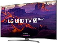 Smart TV LED 55'' PRO Ultra HD 4K LG 55UM761, 4 HDMI, 2 USB, Wi-Fi, ThinQ Al, Conversor Digital, Contr