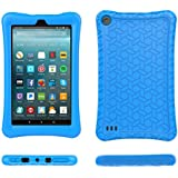 Fire 7 2017 Case Cover-TIRIN Light Weight Shock Proof,Skid Proof Soft Silicone Back Cover Case for Fire 7 2017(Do not Fit Fire 7 2015),Blue
