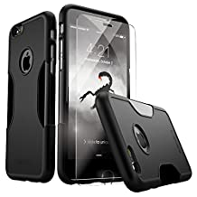 iPhone 6 Case, for iPhone 6s 6 (Black) SaharaCase® Protective Kit Bundled with [ZeroDamage Tempered Glass Screen Protector] Rugged Slim Fit Shockproof Bumper Hard PC Back Protection Case