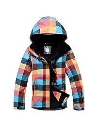 OLEK Women's High Windproof Technology Colorfull Printed Snowboard Clothing Ski Jacket