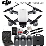 DJI Spark Portable Mini Drone Quadcopter Water Proof Hard Case Ultimate Bundle (Alpine White)