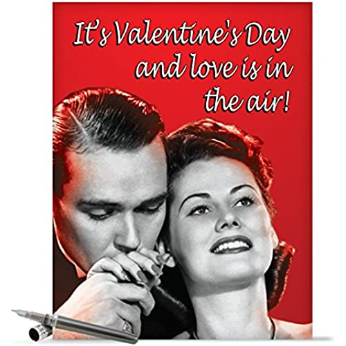 J2191 Jumbo Funny Valentine's Day Card: Love In The Air With Envelope (Extra Large Version: 8.5 x 11) Sales