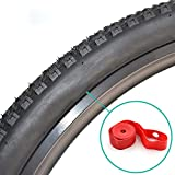 YG_Oline 9 Pack Bicycle Tire Liners, Red Bike Rim
